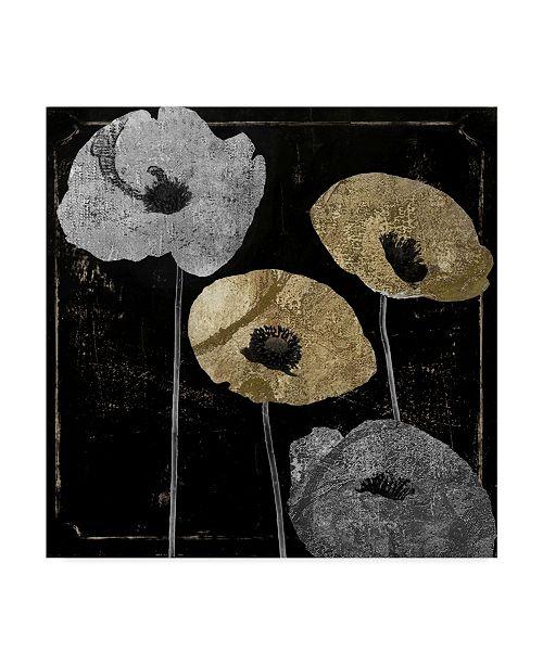 "Trademark Global Color Bakery 'Poppy Ville I' Canvas Art - 18"" x 18"" x 2"""
