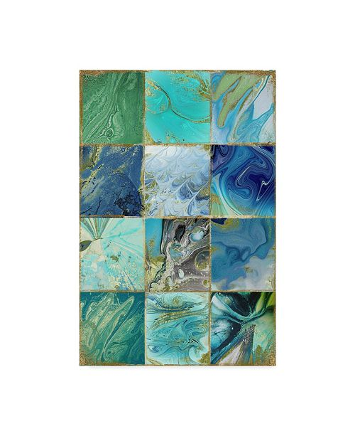"Trademark Global Color Bakery 'Blue Earth' Canvas Art - 32"" x 22"" x 2"""