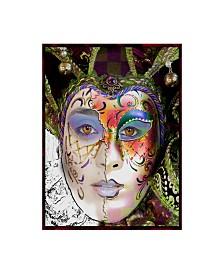"Dana Brett Munach 'Masquerade' Canvas Art - 19"" x 14"" x 2"""