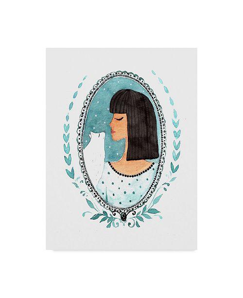 "Trademark Global Irina Trzaskos Studio 'Cat Lady' Canvas Art - 19"" x 14"" x 2"""