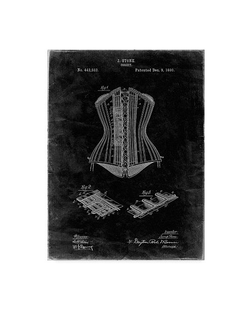 "Trademark Innovations Cole Borders 'Corset' Canvas Art - 19"" x 14"" x 2"""