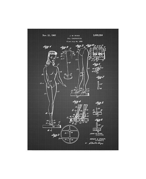 "Trademark Innovations Cole Borders 'Doll' Canvas Art - 24"" x 18"" x 2"""