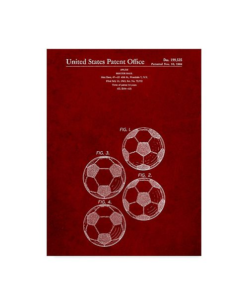 "Trademark Global Cole Borders 'Soccer Ball 4 Image' Canvas Art - 32"" x 24"" x 2"""