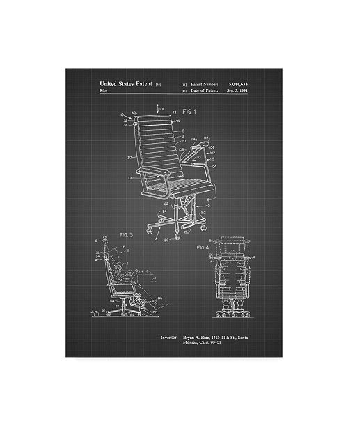 """Trademark Innovations Cole Borders 'Exercising Office Chair' Canvas Art - 47"""" x 35"""" x 2"""""""