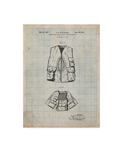 """Trademark Global Cole Borders 'Hunting And Fishing Vest' Canvas Art - 47"""" x 35"""" x 2"""""""