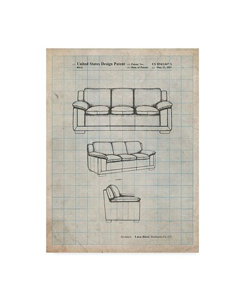 """Trademark Innovations Cole Borders 'Couch' Canvas Art - 19"""" x 14"""" x 2"""""""