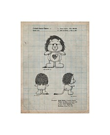 """Cole Borders 'Brave Heart Lion Care Bear Patent Art Print' Canvas Art - 47"""" x 35"""" x 2"""""""