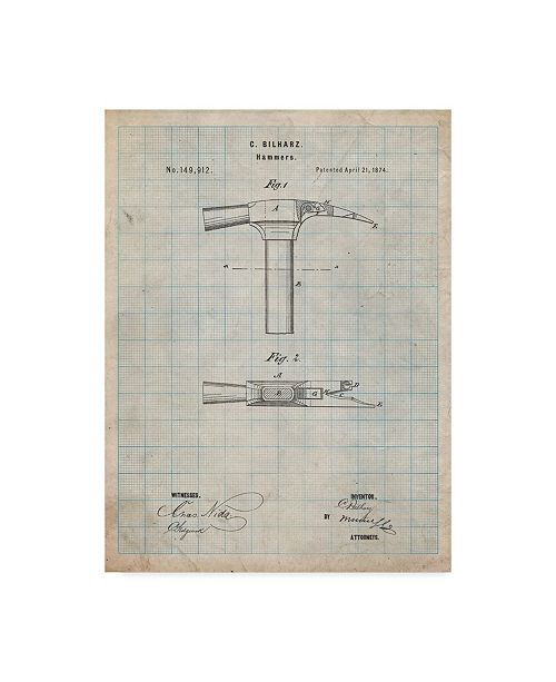"Trademark Innovations Cole Borders 'Claw Hammer' Canvas Art - 47"" x 35"" x 2"""