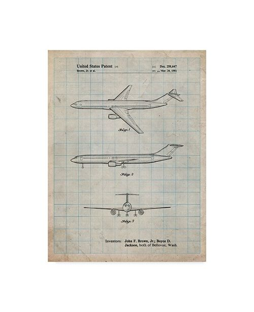 "Trademark Innovations Cole Borders 'Boeing Concept 777 Aircraft' Canvas Art - 19"" x 14"" x 2"""