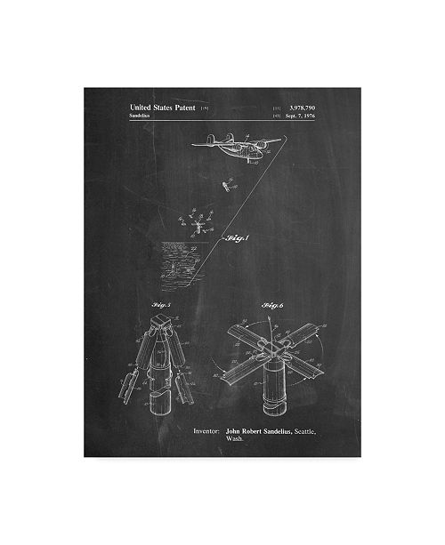 "Trademark Innovations Cole Borders 'Boeing Sonobuoy' Canvas Art - 47"" x 35"" x 2"""