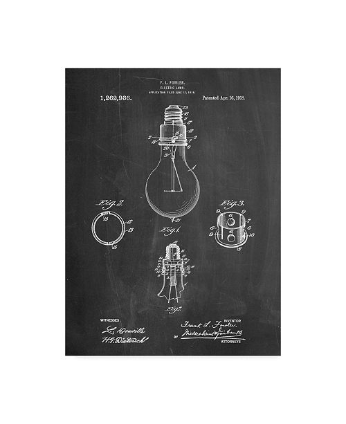 """Trademark Innovations Cole Borders 'Electric Lamp' Canvas Art - 47"""" x 35"""" x 2"""""""