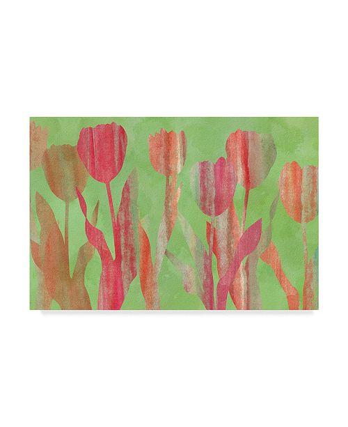 "Trademark Global Cora Niele 'Tulip Shapes Iii' Canvas Art - 32"" x 22"" x 2"""