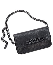 DKNY Logo-Plate Chain-Strap Belt Bag