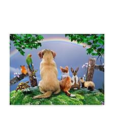 "Howard Robinson 'Watching The Rainbow' Canvas Art - 32"" x 24"" x 2"""