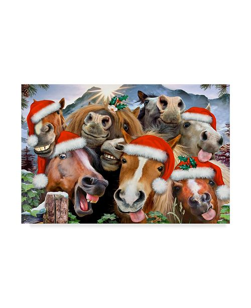 "Trademark Global Howard Robinson 'Christmas Horses' Canvas Art - 19"" x 12"" x 2"""