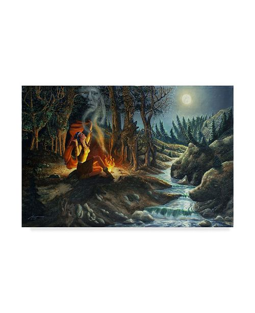 "Trademark Global D. Rusty Rust 'Illusions Of Forest' Canvas Art - 24"" x 16"" x 2"""