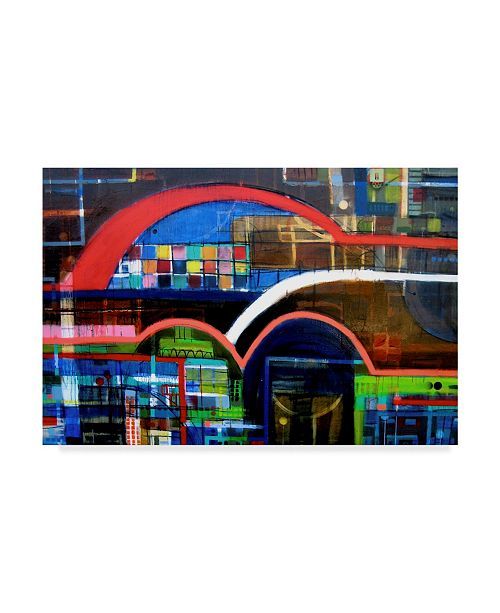 """Trademark Global David Spencer 'Boundary And West' Canvas Art - 24"""" x 16"""" x 2"""""""