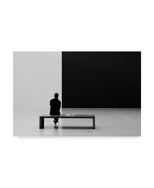 "Trademark Global Inge Schuster 'Black And White I' Canvas Art - 24"" x 2"" x 16"""