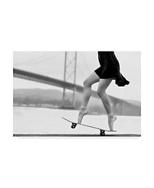 """Howard Ashton Jones 'Skater Girl' Canvas Art - 24"""" x 2"""" x 16"""""""