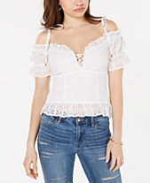 61303c8287e1b GUESS Isotta Cotton Eyelet Top