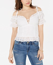 GUESS Isotta Cotton Eyelet Top