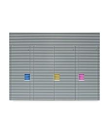 """Harry Verschelden 'Candy Lockers' Canvas Art - 47"""" x 2"""" x 35"""""""