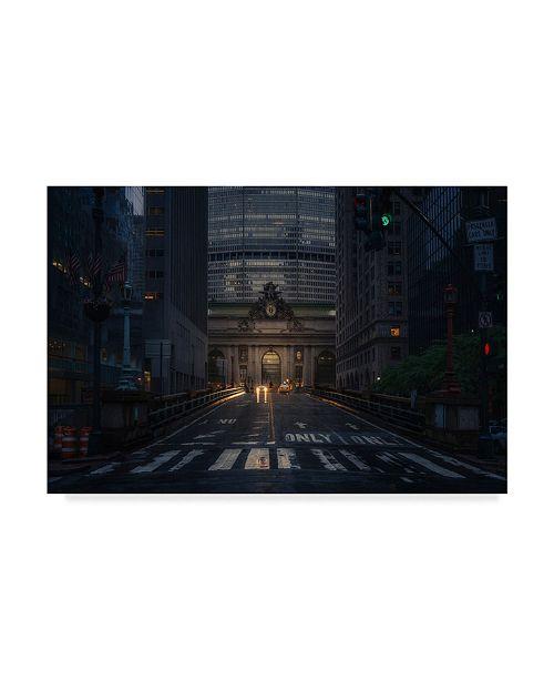 "Trademark Global David Martin Castan 'Dark City' Canvas Art - 32"" x 2"" x 22"""