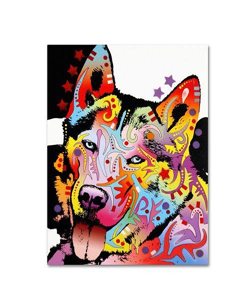 "Trademark Global Dean Russo 'Siberian Husky' Canvas Art - 35"" x 47"" x 2"""