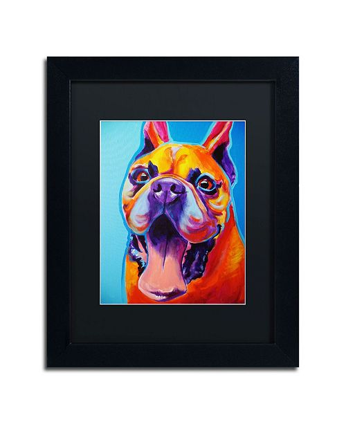 "Trademark Global DawgArt 'Tyson' Matted Framed Art - 14"" x 11"" x 0.5"""