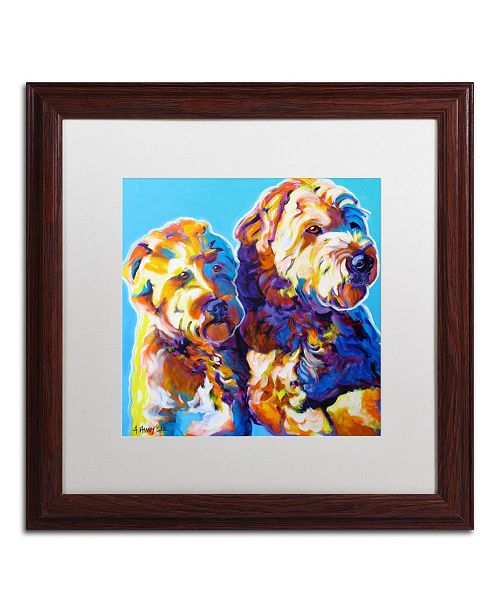 """Trademark Global DawgArt 'Max and Maggie' Matted Framed Art - 16"""" x 16"""" x 0.5"""""""