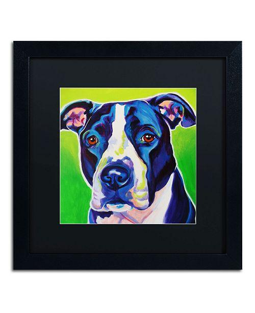 """Trademark Global DawgArt 'Sadie' Matted Framed Art - 16"""" x 16"""" x 0.5"""""""