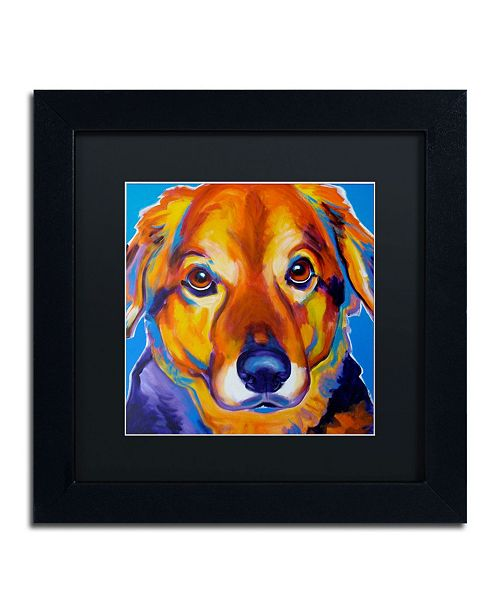 "Trademark Global DawgArt 'Riley Square' Matted Framed Art - 11"" x 11"" x 0.5"""
