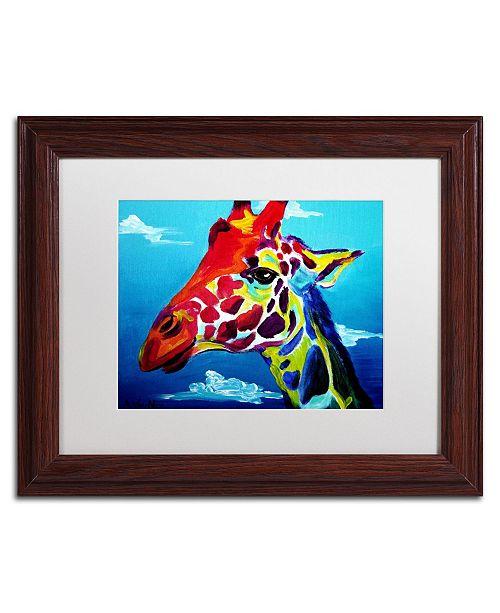 """Trademark Global DawgArt 'Giraffe' Matted Framed Art - 11"""" x 14"""" x 0.5"""""""