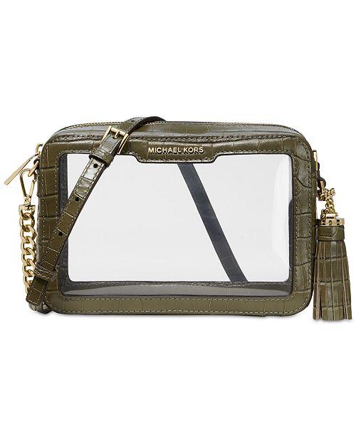 5cd774befa6f Michael Kors Clear Camera Medium Bag & Reviews - Handbags ...
