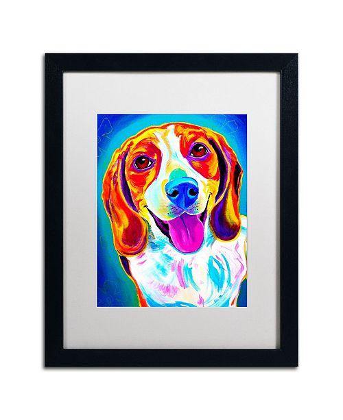"""Trademark Global DawgArt 'Lucy' Matted Framed Art - 20"""" x 16"""" x 0.5"""""""