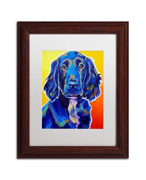 """Trademark Global DawgArt 'Otis' Matted Framed Art - 11"""" x 14"""" x 0.5"""""""