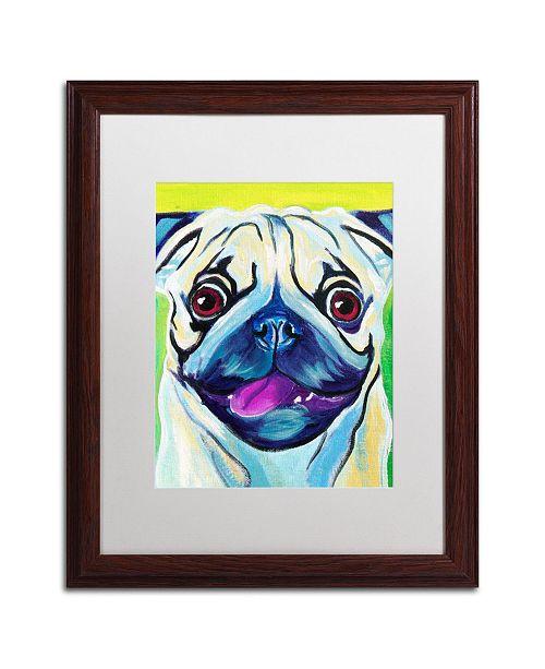 """Trademark Global DawgArt 'Pugilicious' Matted Framed Art - 16"""" x 20"""" x 0.5"""""""