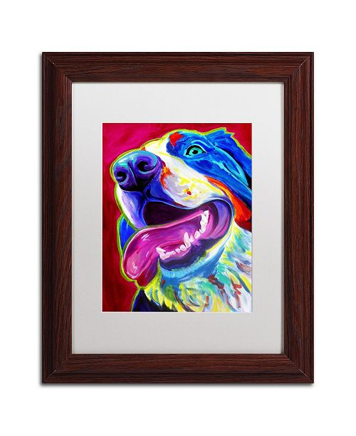 "Trademark Global DawgArt 'Sunshine' Matted Framed Art - 11"" x 14"" x 0.5"""