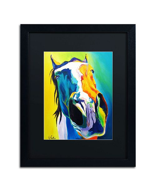 """Trademark Global DawgArt 'Up Close And Personal' Matted Framed Art - 20"""" x 16"""" x 0.5"""""""