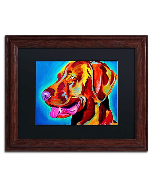 "Trademark Global DawgArt 'Viszla' Matted Framed Art - 11"" x 14"" x 0.5"""