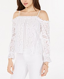 Cold-Shoulder Lace Top