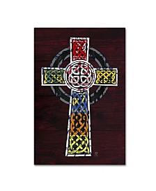 "Design Turnpike 'Celtic Cross' Canvas Art - 19"" x 12"" x 2"""