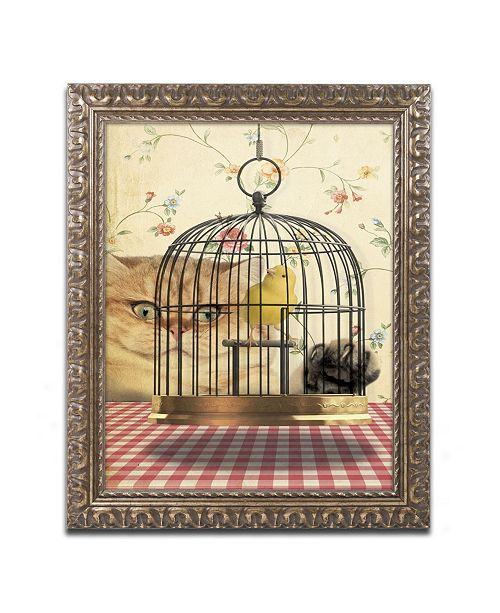 """Trademark Global J Hovenstine Studios 'Cat Series #4' Ornate Framed Art - 14"""" x 11"""" x 0.5"""""""