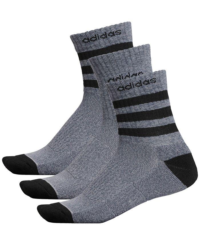 adidas - Men's 3-Pk. High Quarter Socks