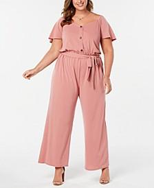 Trendy Plus Size Wide-Leg Jumpsuit