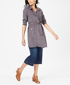Style & Co Draped Trench Coat, Created for Macy's