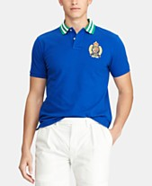 26736539 Polo Ralph Lauren Men's Custom Slim Fit Crest Mesh Polo Shirt