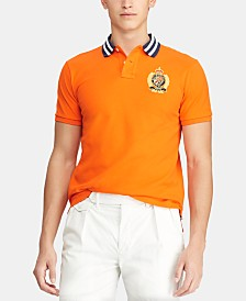 Polo Ralph Lauren Men's Custom Slim Fit Crest Mesh Polo Shirt