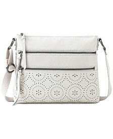 Reseda Laser Cut Leather Crossbody