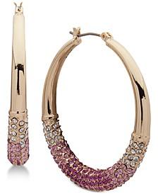 """Medium Ombré Pavé Hoop Earrings, Created for Macy's 1-1/3"""""""